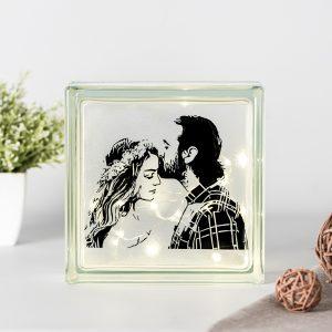 Lámpara de pavés personalizada con foto